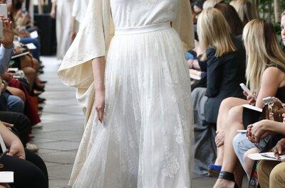 Delphine Manivet otoño 2015: Vestidos de novia con toques bohemios, la mejor inspiración en el viento y volúmenes geniales