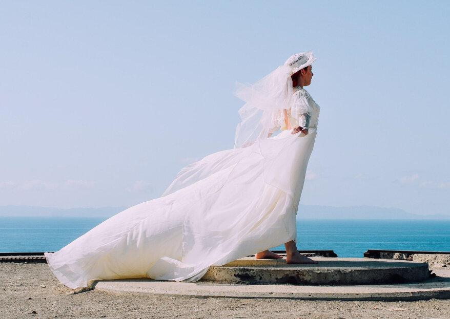 Cómo escoger el velo de novia según la forma de tu cuerpo. ¡Toma nota de estos tips!