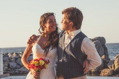 Luz María y Titán sellaron su unión en las románticas orillas del mar de Concón