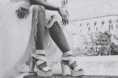Sapatos com tiras para as noivas de 2017: 7 modelos de cortar a respiração