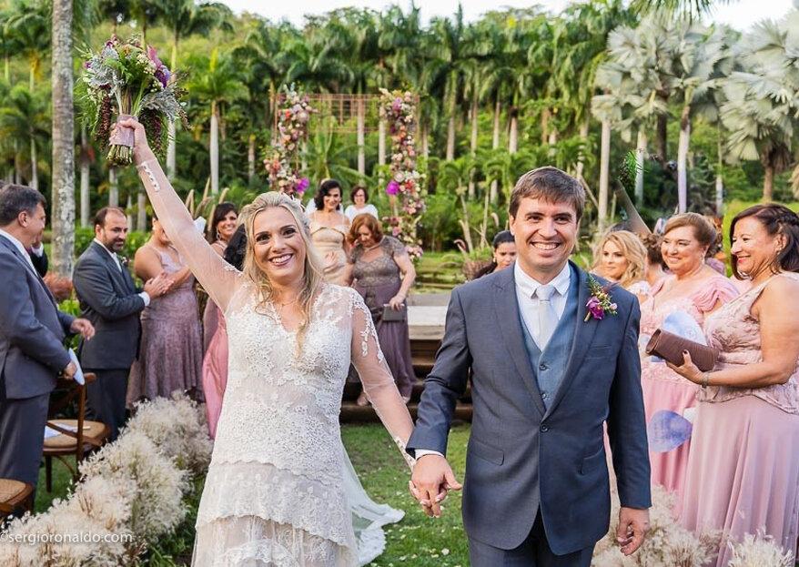 Casamento Roberta & Ângelo: duas cerimônias cheias de amor e muitos momentos especiais