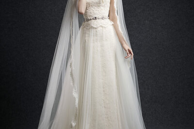 Abiti da sposa con peplum 2015: il tocco glamour che mancava