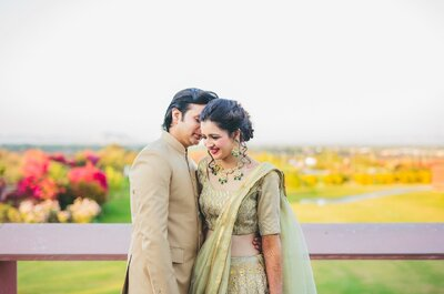 A fairytale wedding for Shivangi and Dev! Who says you can´t have it all?