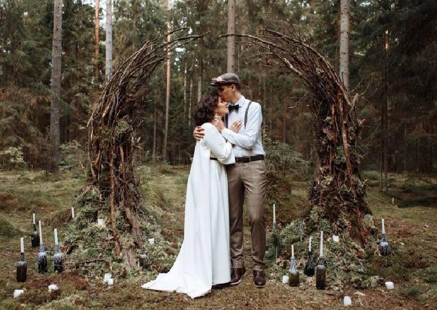 Вдохновение природой: маленькая креативная свадьба