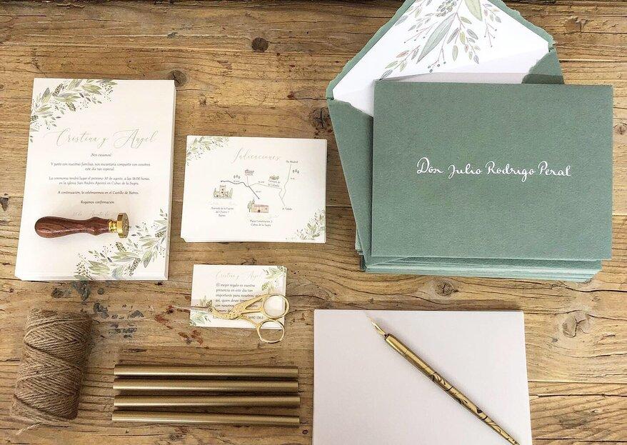 Azul Cielo Art Boutique, cautivando con su papelería de boda artesanal