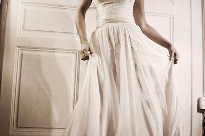 Pour une robe de mariée rétro et poétique : Stéphanie Wolff Paris