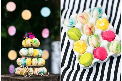 Deleite chic: Macarons de colores como postre para tu boda 2014