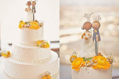 Tartas de bodas decoradas con flores