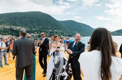 Mariafrancesca ed Antonello: un romantico matrimonio sul The Floating Piers