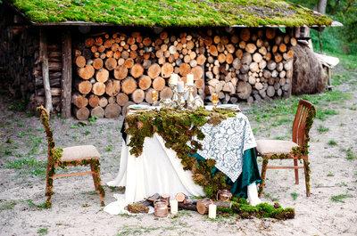Trendy 2018: drewno. Winietki, dekoracja, a nawet obrączki!