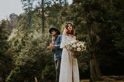 Vamos a conquistar el mundo un pasito a la vez: La boda boho de Leo y Renata