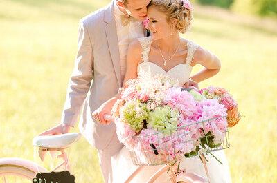 Real Wedding: Una preciosa boda rústica al natural con detalles en verde y rosa