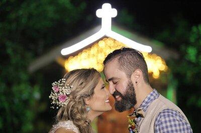 Priscila & Douglas: casamento DIY americano DIVINO ao ar livre!
