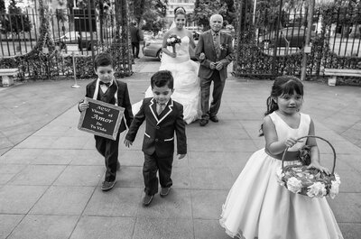 Las cinco frases más utilizadas para acompañar a la novia/mamá al altar