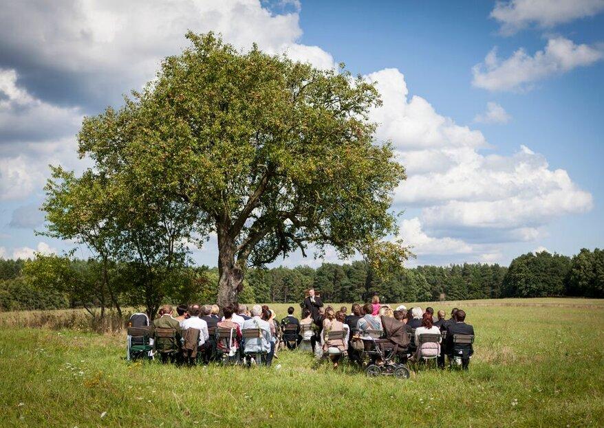 Traumhochzeit inmitten von Wiesen & Wäldern – Auf dem Gut Sarnow auch an Werktagen!