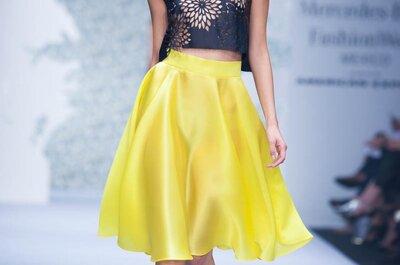 El binomio perfecto: Elegancia y feminidad en los vestidos de fiesta 2015 de Alejandro Carlín
