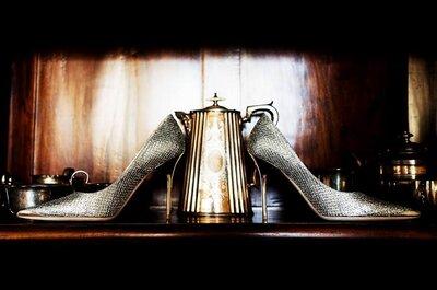 Scarpe d'oro e d'argento per la sposa del 2017