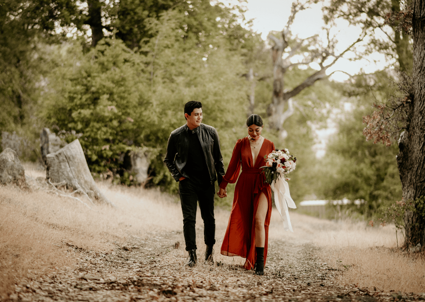 David & Sheyla: una boda elopement de otoño en California