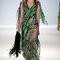 Vestido de novia largo con inspiración en animal print en colores verde y negro