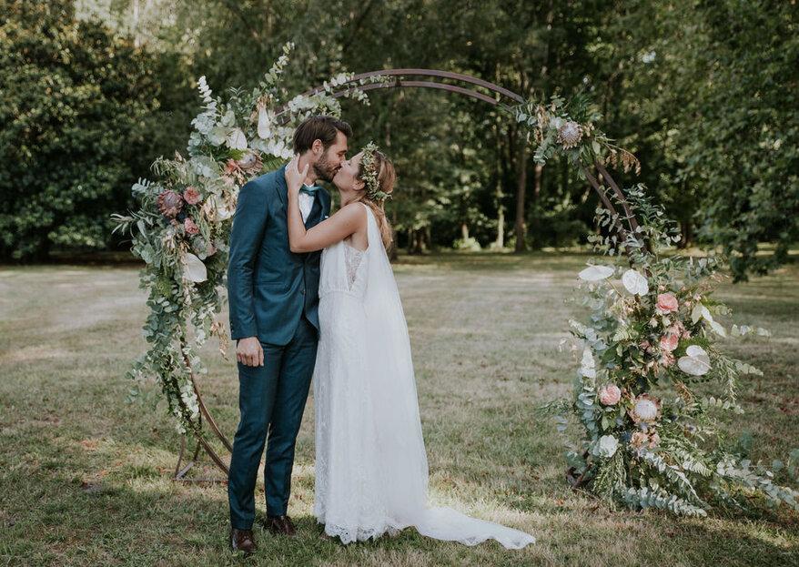 Mettez des fleurs au cœur de votre décoration : mariage fleuri, mariage réussi !