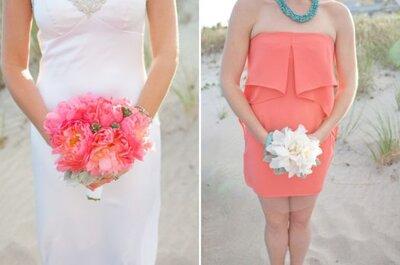 Rose vif, orange lumineux: des détails pétillants pour un Real Wedding au bord de la plage