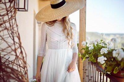 Novias con sombrero estilo pamela, ¿sí o no? ¡Tú eliges!