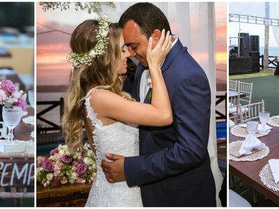 Casamento na praia de Camila & Maiko: de frente para o mar, com frescor e romantismo na medida