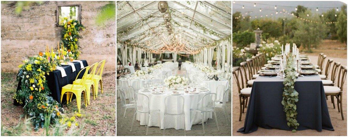 Dekoracje stołów! 25 ozdób na stoły weselne.