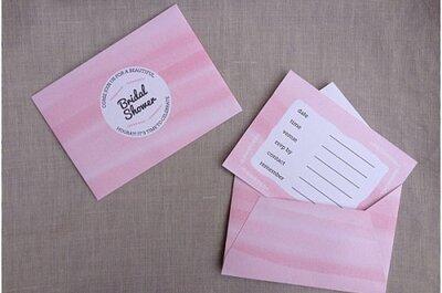 DIY bridal shower invitation: download your free printable watercolour bridal shower invitation!