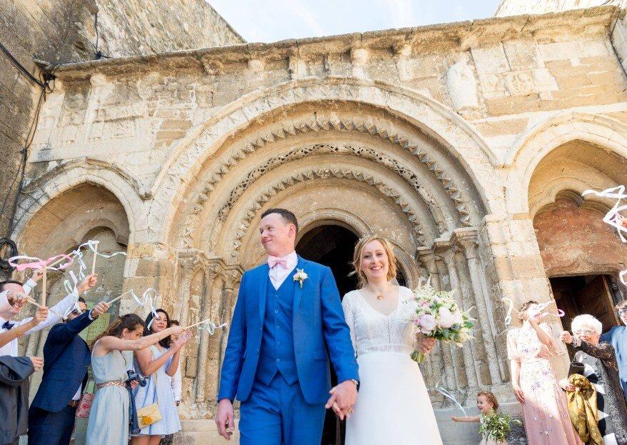 Coline et Martin : un mariage provençal nature et ensoleillé pour un jour J tout en simplicité