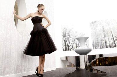 8 abiti da sposa neri per un look nuziale fuori dagli schemi