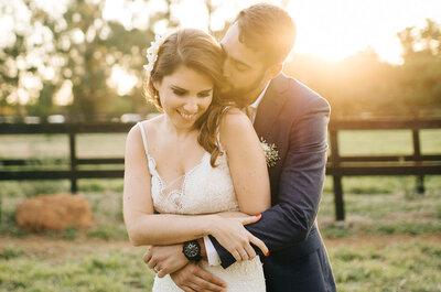 O Casamento no campo de Julia e Daniel: ao ar livre com decoração leve, frescor e muito verde!