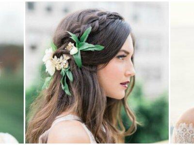 Trendige Brautfrisuren 2018. Mehr als 60 TOP Vorschläge!