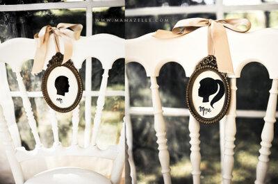 Decore as cadeiras do seu casamento