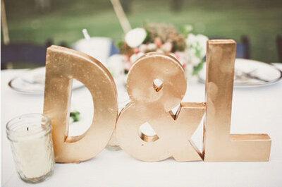 4 maneras fáciles de hacer cualquier boda brillante con detalles de oro