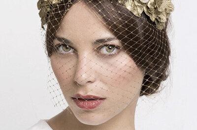 Los tocados con rejilla o birdcage: el complemento estrella de tu look de novia