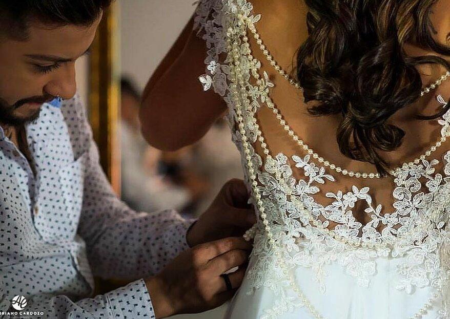 Atelier Douglas Husmuci: atendimento diferenciado na idealização do seu vestido de noiva, na confecção... e até no dia do seu casamento!