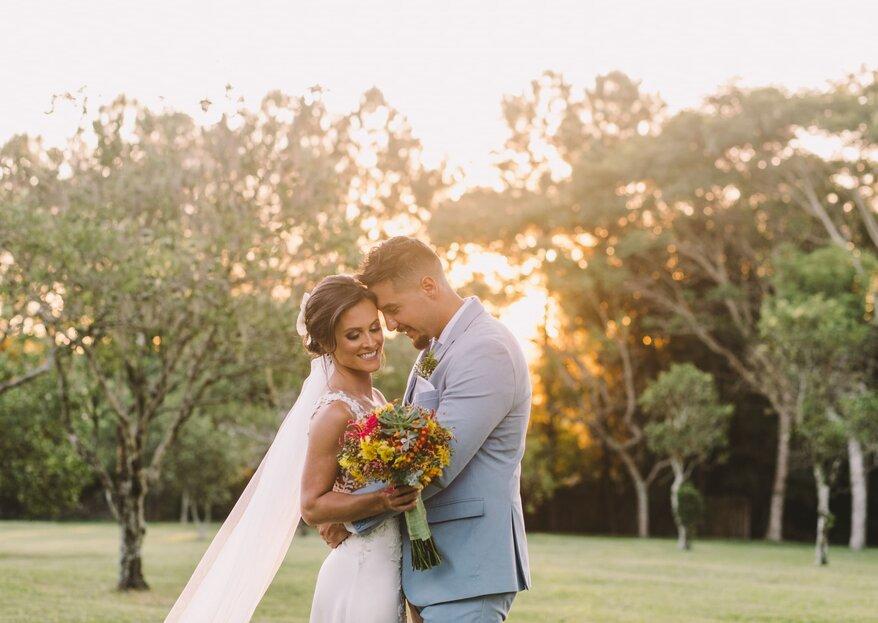 Camila e Rafael: DIY e amor em cada detalhe em casamento no Sul