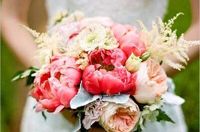 Bouquets para novias femeninos y románticos