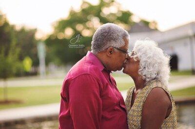 Non è mai troppo tardi per innamorarsi!Lo dimostra la storia di questa coppia di futuri sposi
