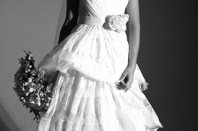 Minimalismo chic nos vestidos de noiva com ombros caídos em 2015