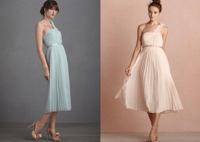 Colores pasteles para vestidos de fiesta