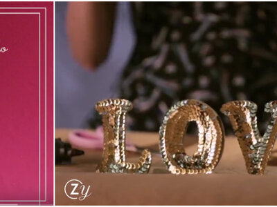 Meu casamento DIY: aprenda a fazer lindas letras de lantejoulas!