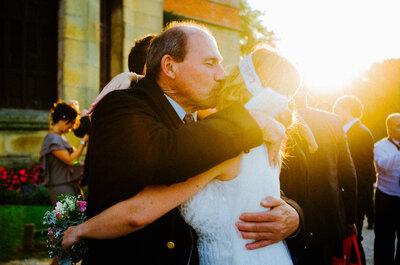 6 roles que solo tus padres podrán desempeñar en tu boda
