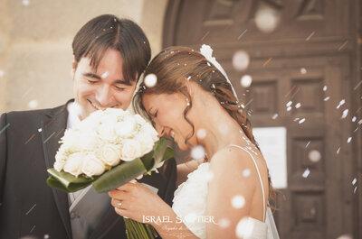 Conserva para siempre tu historia de amor con las fotografías de boda de Israel Sautier