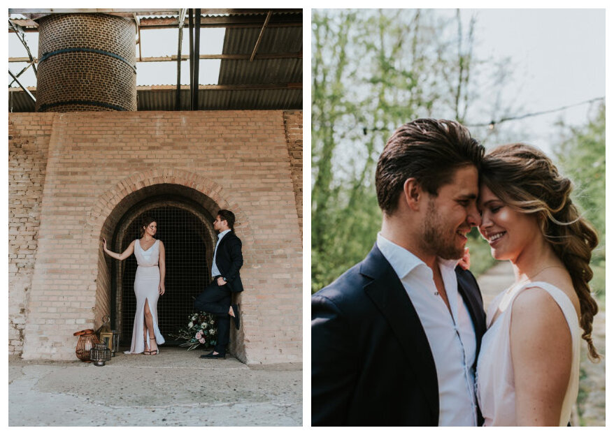 Industriële Styled Wedding Shoot: Robuust & Stoer!