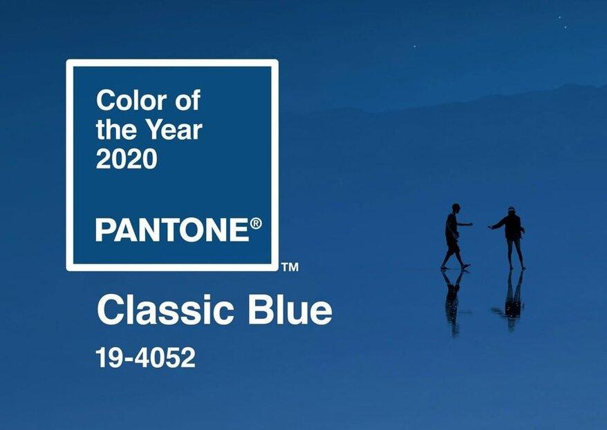"""Pantone hat die Farbe für das Jahr 2020 enthüllt: """"Klassisches Blau"""". Und so glänzen Sie damit auf einer Hochzeit!"""