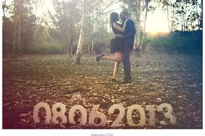 Romántica sesión de fotos pre boda de Diana e isaac
