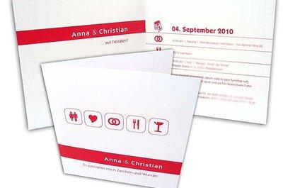 Bunte Hochzeitseinladungen von hochzeitseinladungen.cc