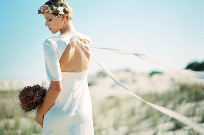 Los mejores vestidos de novia si quieres lucir unos hermosos brazos y una espalda cuidada